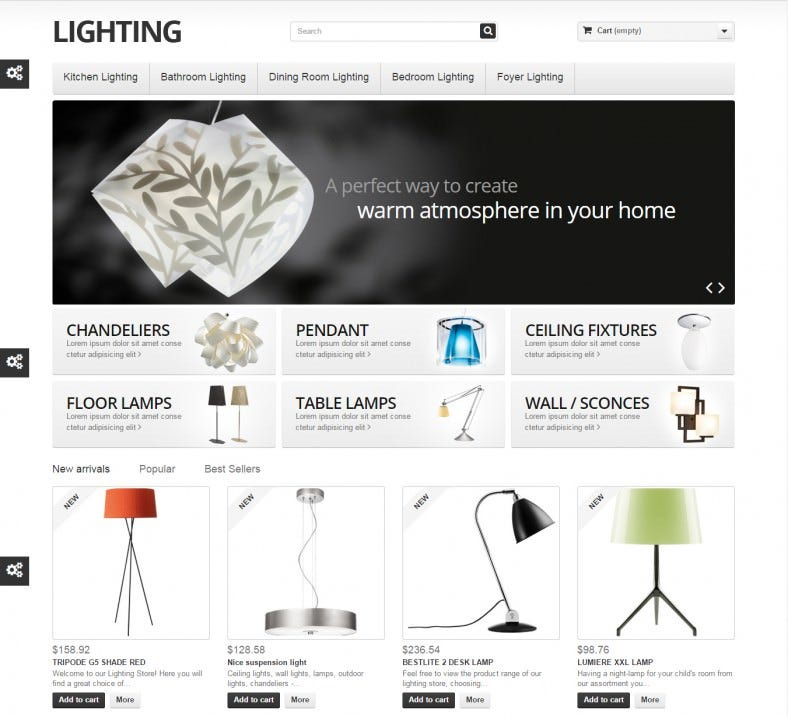Interior Lighting Design Shop PrestaShop Theme
