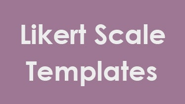 likert scale templates