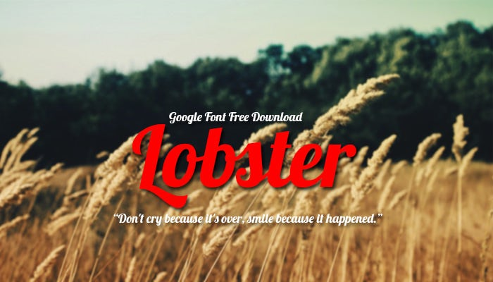 Lobster Google Fonts