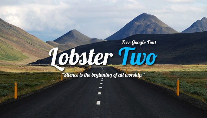 Lobster Two- Google Font