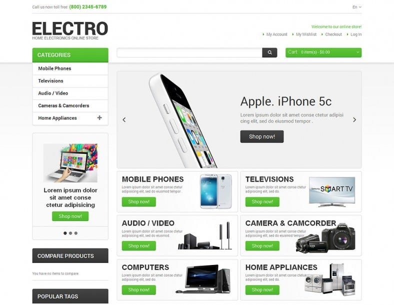 Magento Theme for Electro Appliances