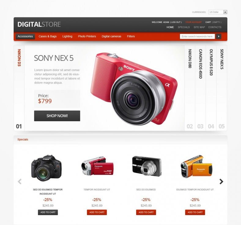Magento Theme for Electronics Digital Devices