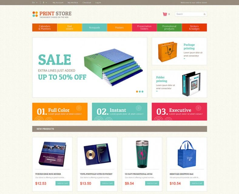 Magento Theme for Print Store
