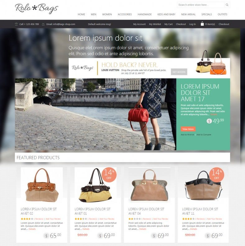 Magento eCommerce Fashion Accessories Design Template