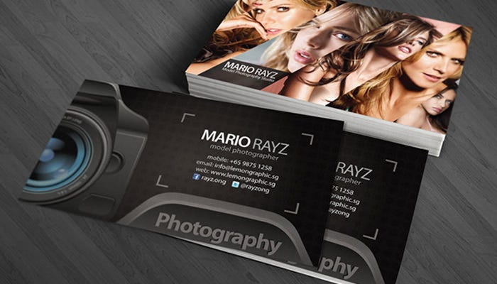 52 photography business cards free download free premium templates mario rayz photography card accmission Image collections