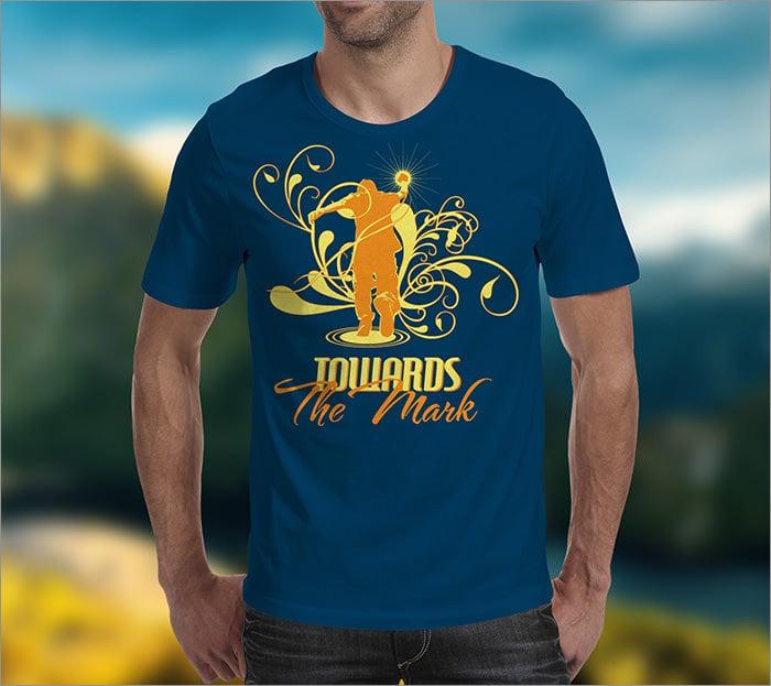 mark t shirt template