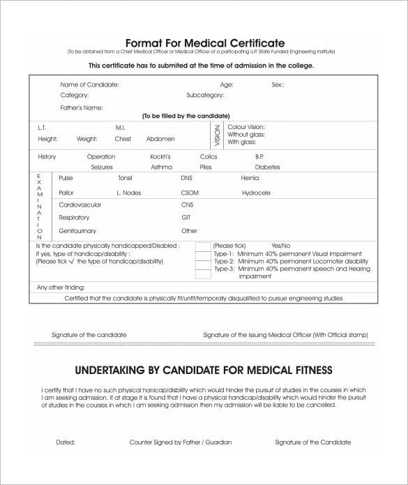 medical certificate fake