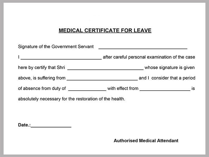 Medical Certificate Template - 20+ Free Word, PDF ...