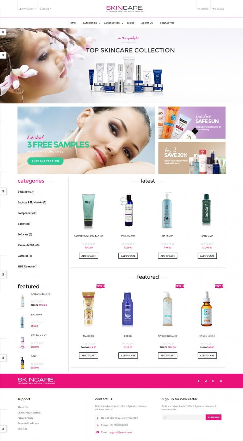 Responsive Haircare OpenCart Template