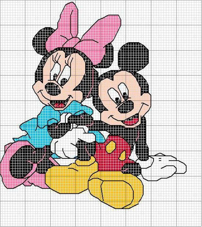 Charming Mickey Mouse Minecraft Pixel Art Drawing Templates