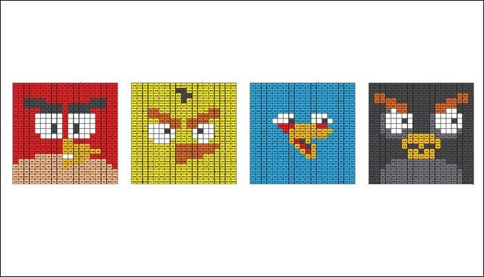 minecraft pixelart angry birds face template1