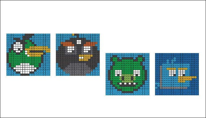 minecraft angry birds template1