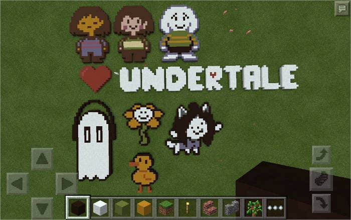 minecraft pixel art undertale