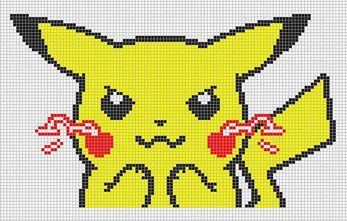 Minecraft Pixel Art Templates Pokemon Pikachu Image Gallery  Hcpr