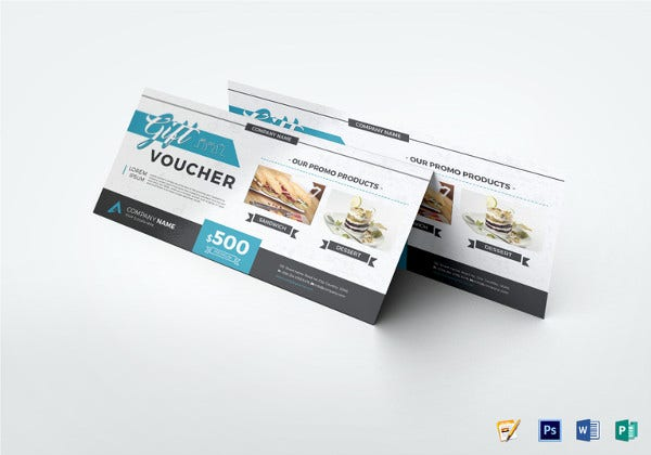 modern gift voucher design template
