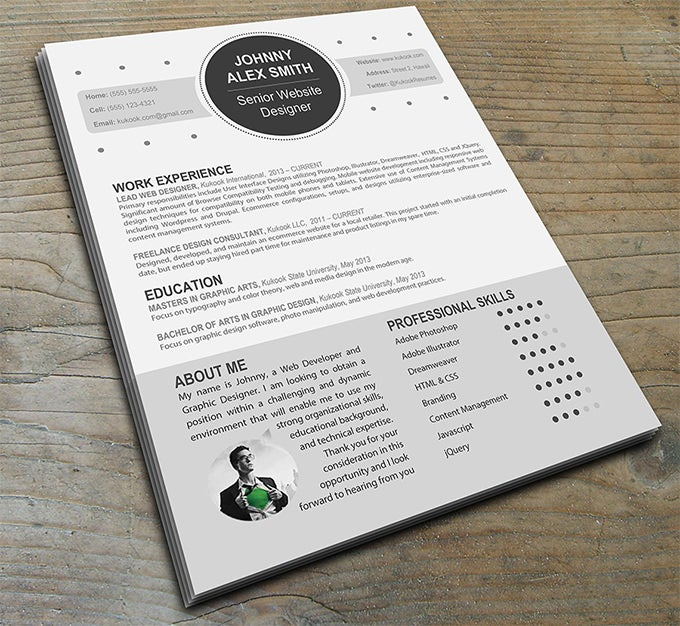 modern resume template for creative careers - Modern Resume Template Free Download