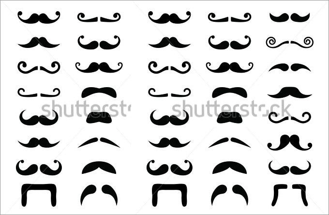 moustache mustache icons isolated