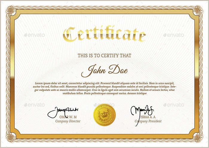Multi Purpose Certificates Template PSD Download