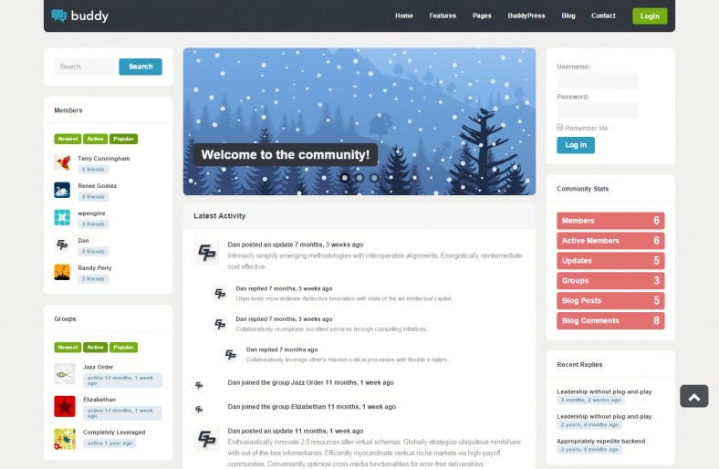 multi purpose wordpress buddypress theme 788x514
