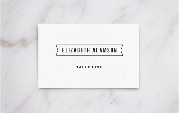 5 printable place card templates designs free