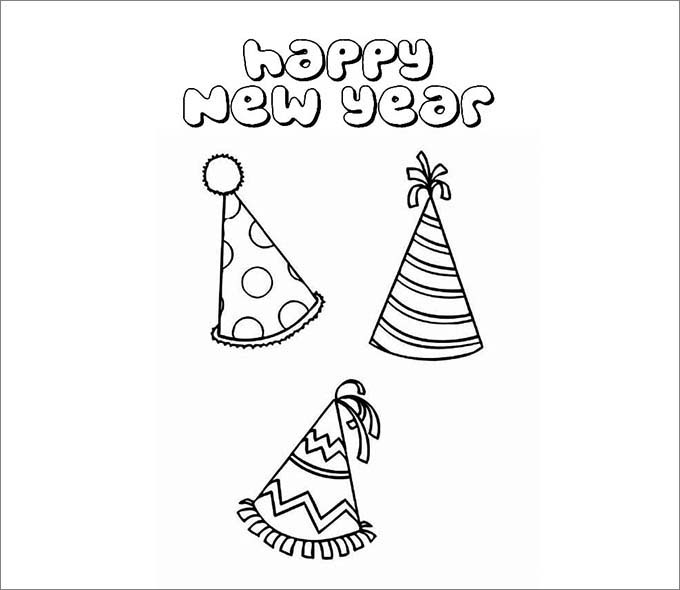 new year hat template free