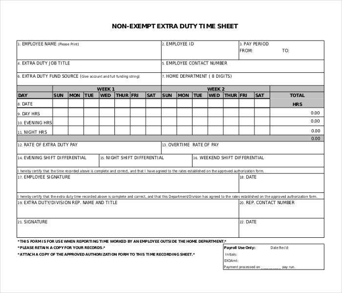 non exempt extra duty timesheet1