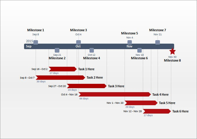 Project Timeline Templates Free Word PPT Format Download - Free timeline template for mac