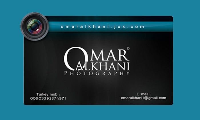 Photography Visiting Card Design Png
