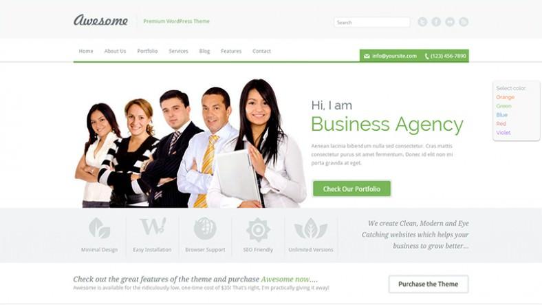 one page business portfolio wordpress theme 788x443