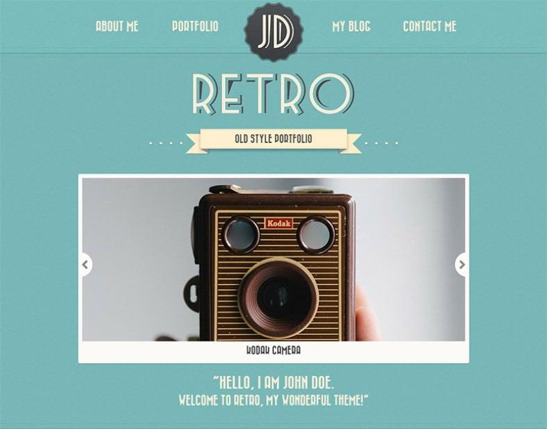 one page vintage wordpress theme 788x617