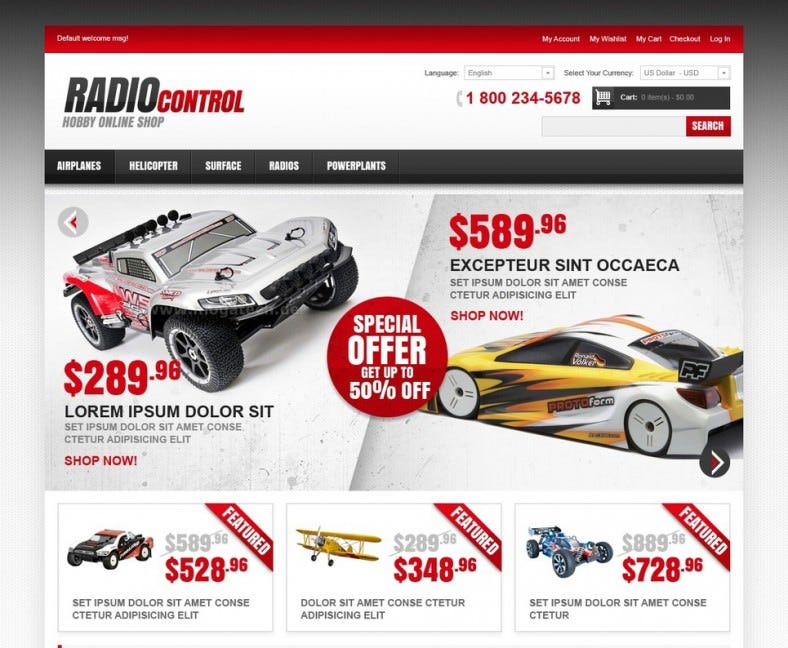 Online Shop Magento Templates