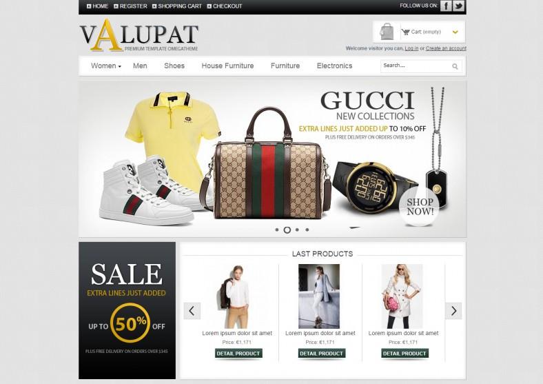 online store free prestashop theme 788x557