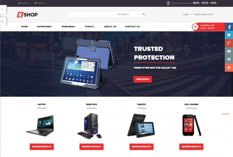 Online computer Shop Prestashop Template