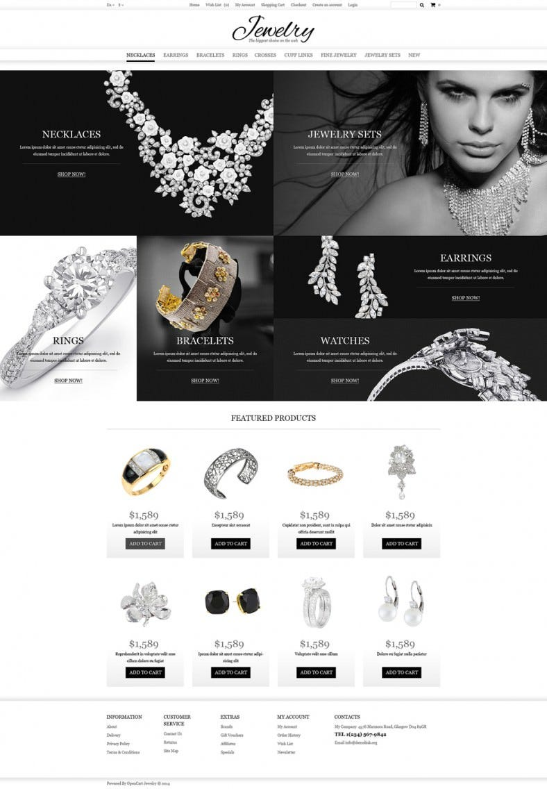 jewelry store opencart websit templates themes free premium free premium templates. Black Bedroom Furniture Sets. Home Design Ideas