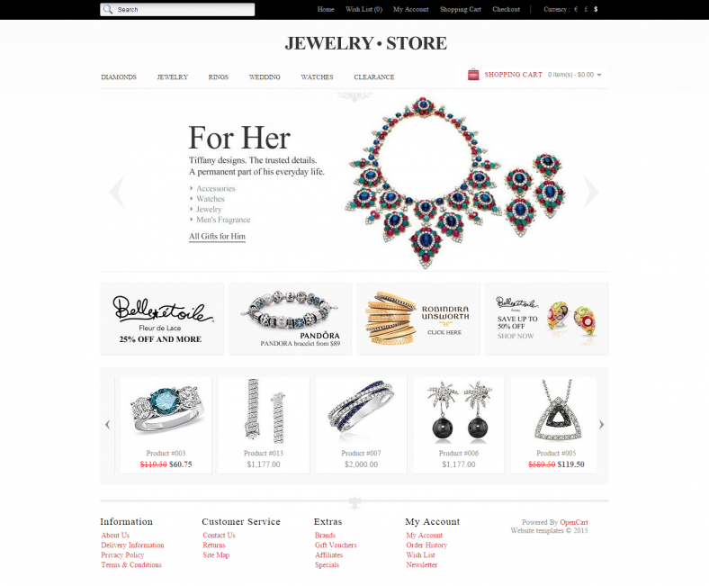 OpenCart Template for Jewelry Shop
