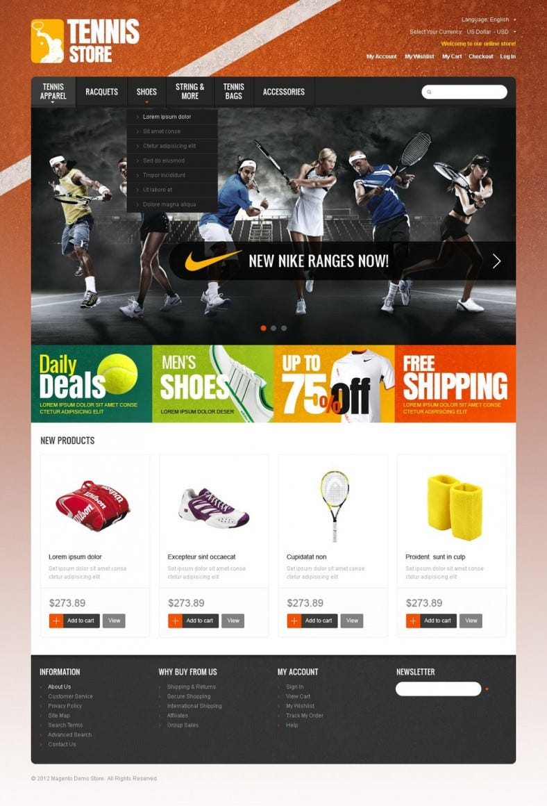 OpenCart Template for Sports