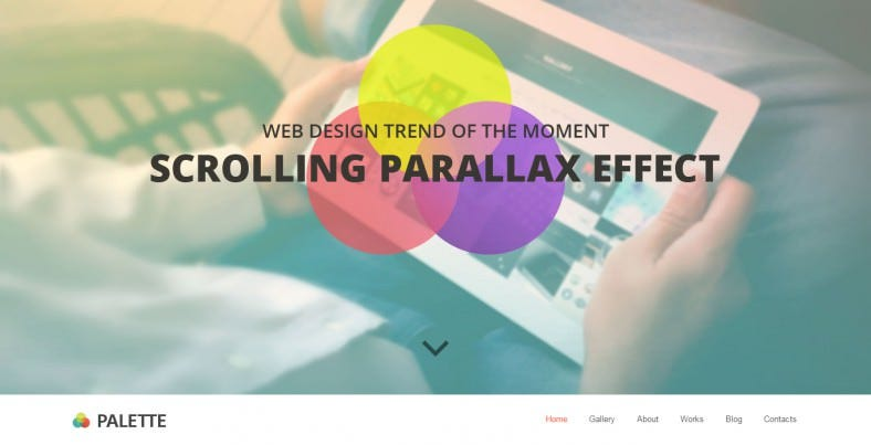 Bootstrap Parallax HTML Template