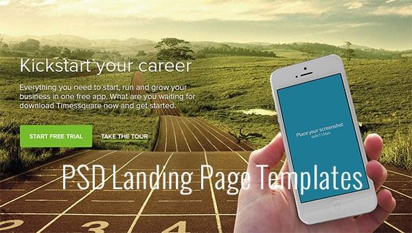 psd landing page templates