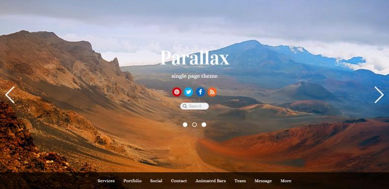 Parallax Scrolling Design Wordpress Template
