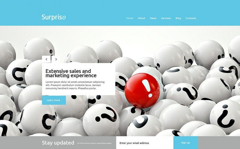 Parallax WordPress Theme for Business
