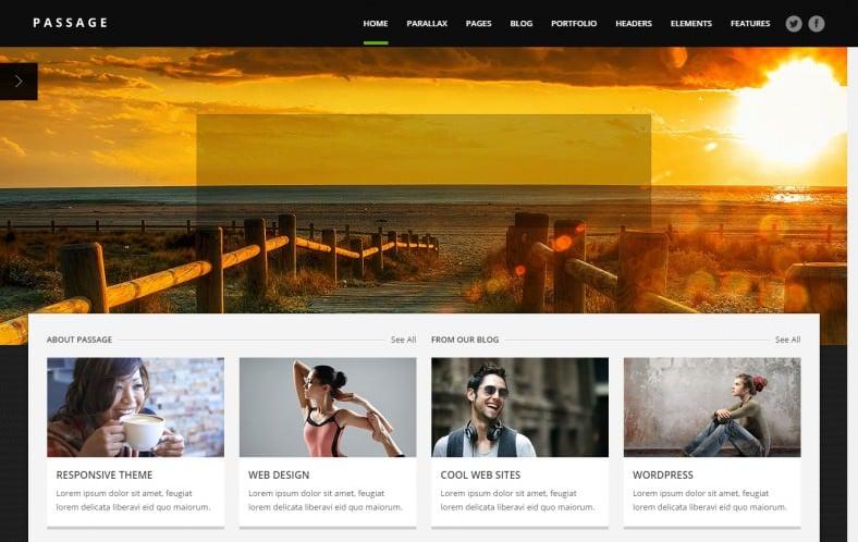 Responsive Retina Parallax Multi-Purpose Wordpress Theme