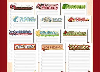 Bound Perpetual Calendar Printable Template | Calendar Template 2016