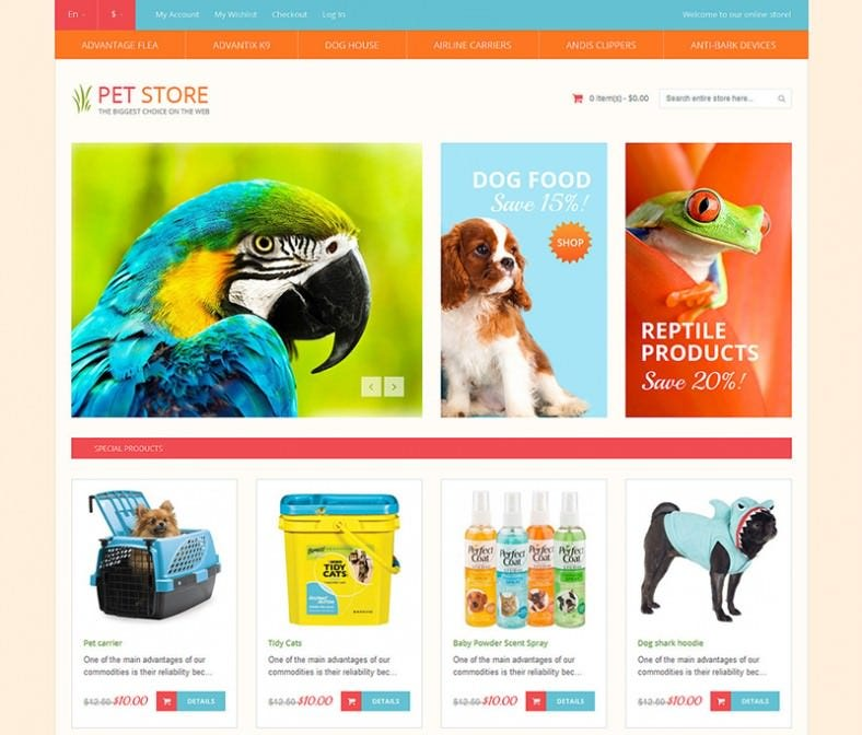 Fully Responsive Pet Shop Magento Theme