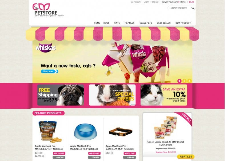 Magento Themes Pet Store Magento Templates Free
