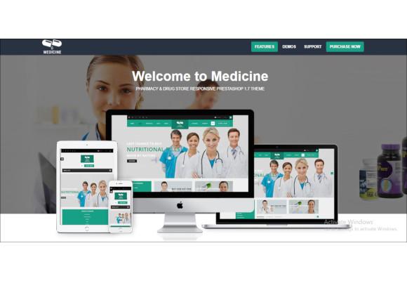 pharmacy drug store responsive prestashop theme