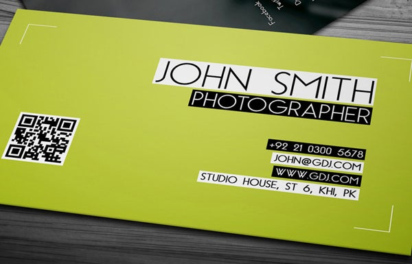 photographer jhon smith card