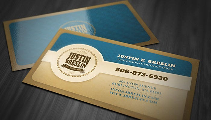 Photography Business Cards Free Download Free Premium - Business card template with photo