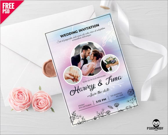 photshop wedding invitation card
