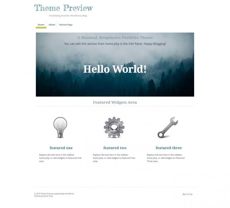 Free Wordpress Parallax Scrolling Theme