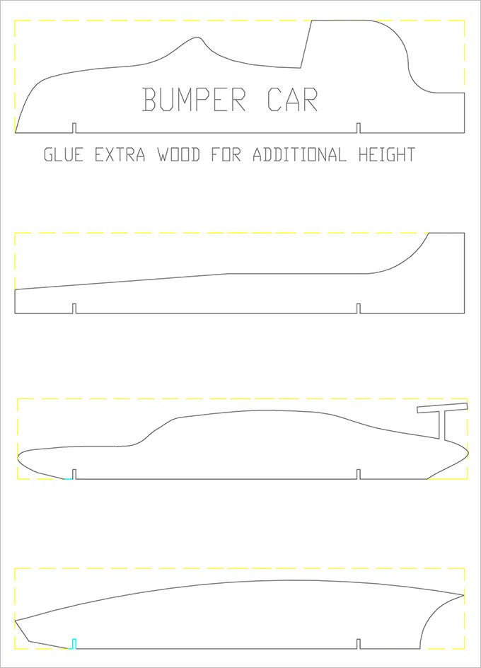 free car pinewood derby template